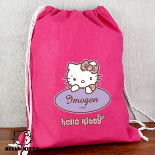 Personalised Hello Kitty Sweet Heart Leopard Swim Bag